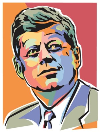 Illustration of John F. Kennedy, the 35th President of the United States